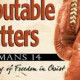 """2018-03-04,  """"Conflict and Disputable Matters"""""""